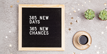 New Year's resolutions are set with a positive, optimistic mindset.